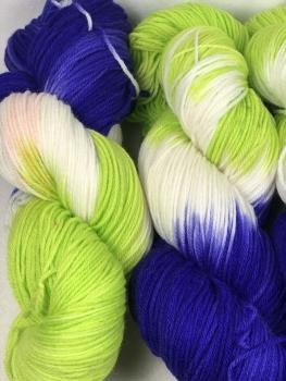 Merino extrafein Sockenwolle handgefärbt LL 400m