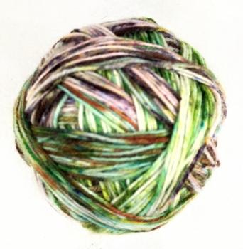 Opalwolle Streifenbildend selfstriping Sockenwolle handgefärbt